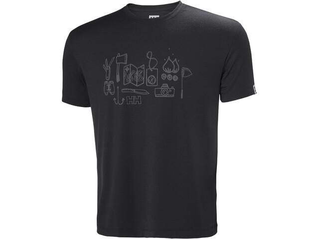 Helly Hansen Skog Graphic T-shirt Herr ebony